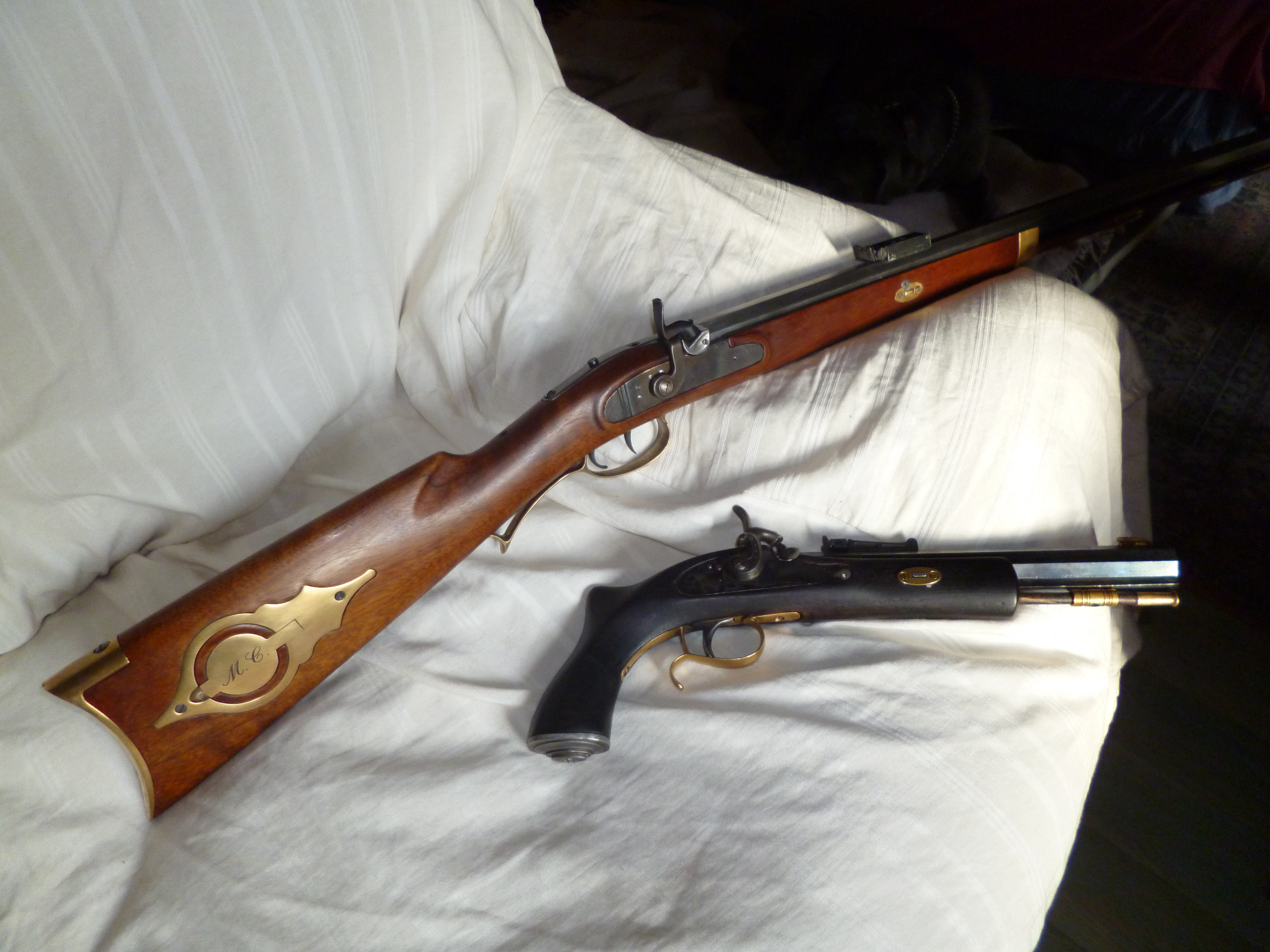 7 les pistolets et carabines monocoup poudre noire percussion la vis e et l utilisation - Couleur canon de fusil ...